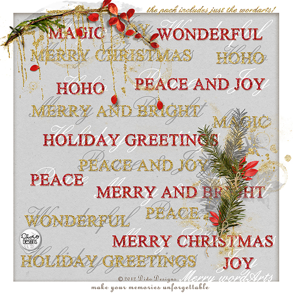 {merry} wordArts by Dido Designs.