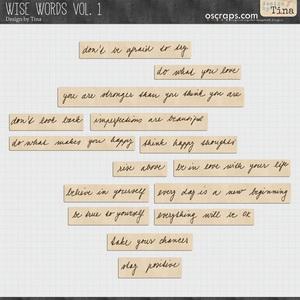 Wise Words Vol. 1