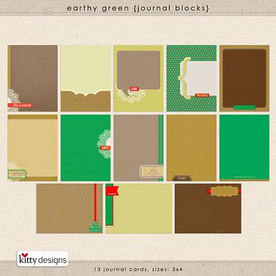 Earthy Green {Journal Blocks}
