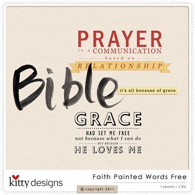 Faith Painted Words Freebie