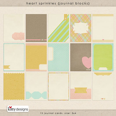 Heart Sprinkles {Journal Blocks}