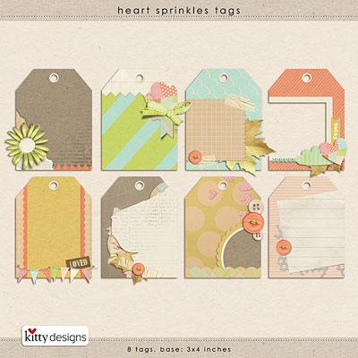 Heart Sprinkles {Tags}