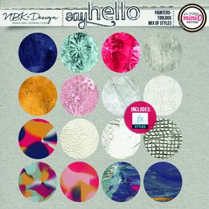 Say Hello {Painters-Toolbox: Mixed-Media Styles}