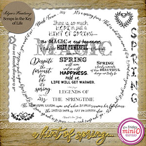 A Hint Of Spring Word Art - 12 PNG Files by Idgie's Heartsong