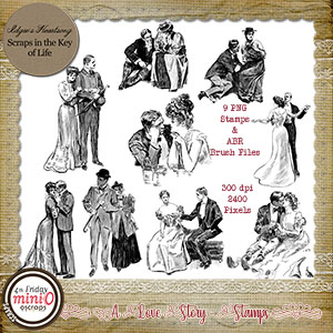 A Love Story - Stamps - Set 1 by Idgie's Heartsong