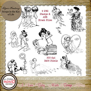 A Love Story - Stamps - Set 2 by Idgie's Heartsong
