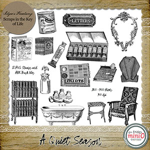 A Quiet Season - 16 PNG Stamps and ABR Brush Files by Idgie's Hearstsong