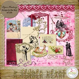 A Tender Heart - MINI O SCRAPKIT by Idgie's Heartsong