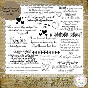 A Tender Heart - MINI O - WORD ART by Idgie's Heartsong