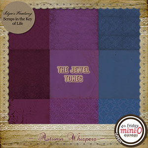 Autumn Whispers Paper Pack - The Jewel Tones by Idgie's Heartsong