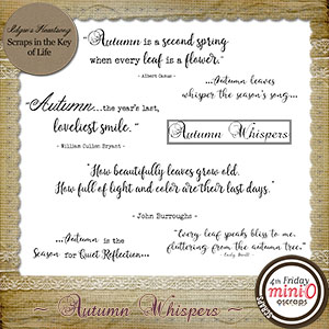Autumn Whispers - Word Bits by Idgie's Heartsong