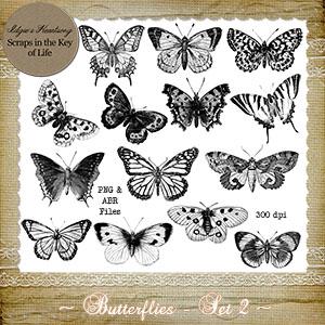Butterflies - Set 2 by Idgie's Heartsong