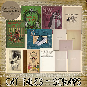 CAT TALES - 13 Pages of KITTY EPHEMERA by Idgie's Heartsong