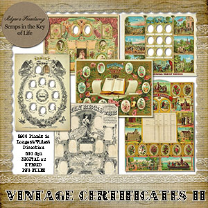 Vintage FAMILY CERTIFICATES II by Idgie's Heartsong