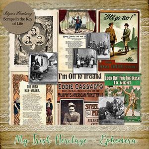 My Irish Heritage - More Ephemera by Idgie's Heartsong