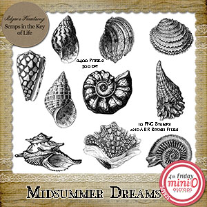 Midsummer Dreams - 10 PNG Stamps and ABR Brush Files by Idgie's Heartsong