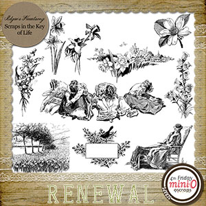 RENEWAL - 10 PNG Stamps and ABR Brushes by Idgie's Heartsong