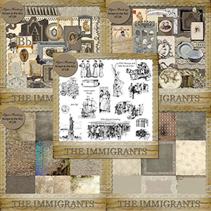 The Immigrants - A Heritage Scrapkit Collection by Idgie's Heartsong