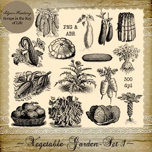 Vegetable Garden - Set 1 by Idgie's Heartsong