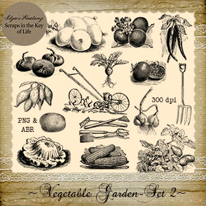 Vegetable Garden - Set 2 by Idgie's Heartsong