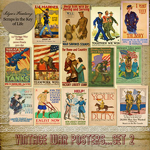 14 Vintage WWI WAR POSTERS - Set II by Idgie's Heartsong