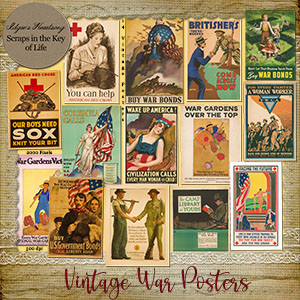 14 Vintage WWI WAR POSTERS by Idgie's Heartsong