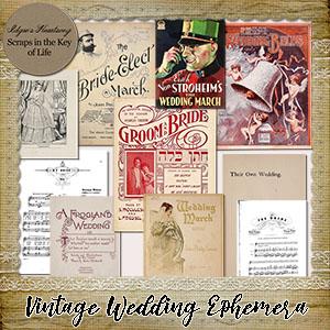 10 Pieces of Vintage WEDDING EPHEMERA by Idgie's Heartsong