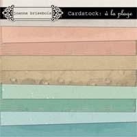 Cardstock: à la plage Paper Pack