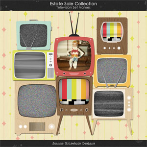 Estate Sale Collection: Television Set Frames Element Pack