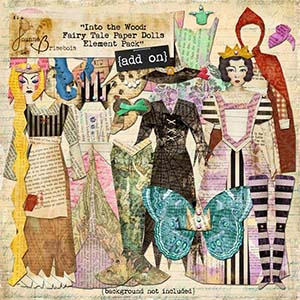 Into the Wood: Fairy Tale Paper Dolls Element Pack