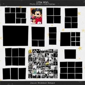 Little Wish Photo Masks + Line Frames