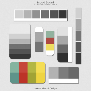 Mood Board Color Swatches Vol 2