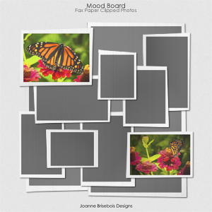 Mood Board Fax Paper Clipped Photos