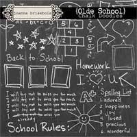 Olde School: Chalk Doodles Element Pack