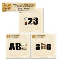 Still Life Collection: Alphabet & Numbers Photo Masks + Line Frames Bundle Pack