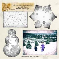 Still Life Collection: Let it Snow Frame Overlays Element Pack