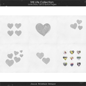 Still Life Collection: Love Story 12x12 Quick Pages Pack