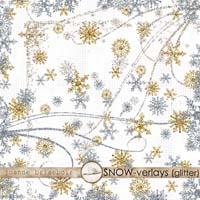 SNOW-verlays (Glitter) Element Pack