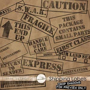 Shipping Labels Element Pack