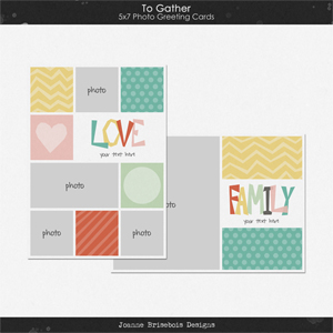 To Gather 5x7 Photo Greeting Cards Pack