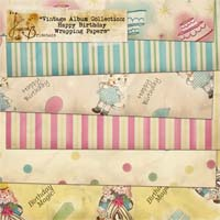 Vintage Album Collection: Happy Birthday Wrapping Papers Pack