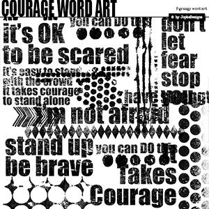 Courage Word Art