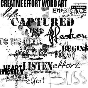 Creative Effort Word Art