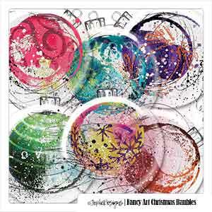 Fancy Art Christmas Baubles