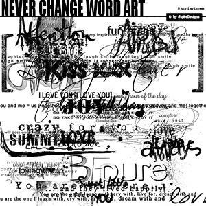 Never Change Word Art