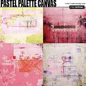 Pastel Palette Canvas