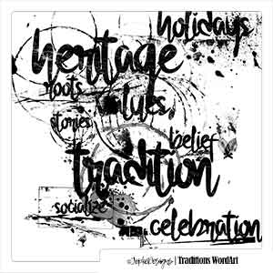 Traditions WordArt