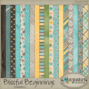 Blissful Beginnings { Papers } by Jumpstart Designs