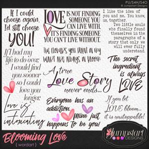 Blooming Love WORDART by Jumpstart Designs
