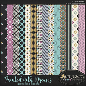 Painted with Dreams { Patterned Papers } by Jumpstart Designs